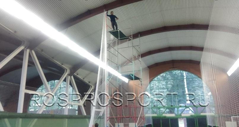 Монтаж заградительной сетки 1