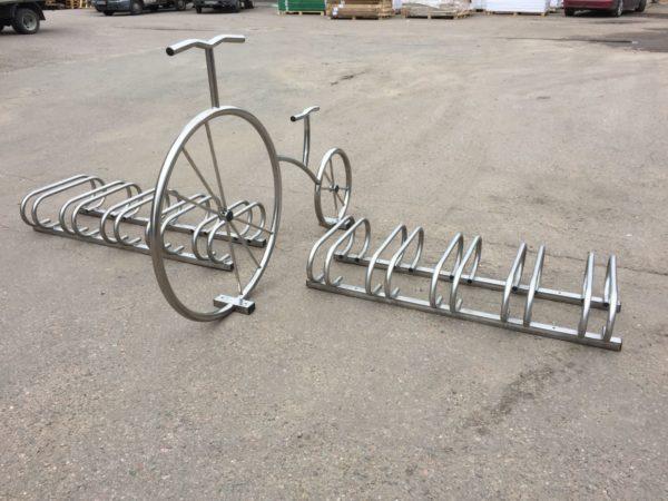 Велопарковка Велосипед декоративный нержавейка 2