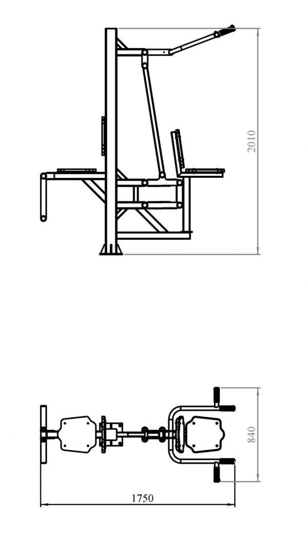 Вертикальная тяга + флекс 2