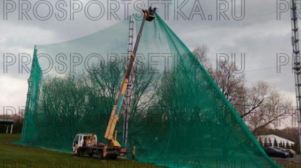 Сетка заградительная 20х20 мм, нить 2,6 мм, зеленая 2