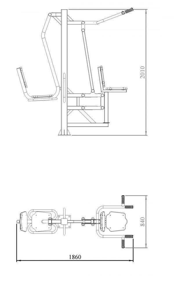 Жим ногами + вертикальная тяга 2