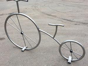 Велопарковка Велосипед декоративный нержавейка