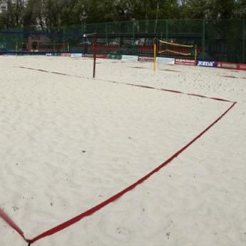 Разметка площадки для волейбола 9х18 м 1