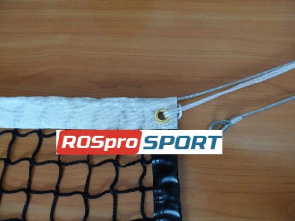 Сетка для большого тенниса, нить 3 мм, стальной трос 3 мм 1