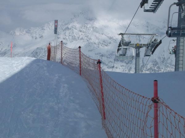 Сетка разграничительная для горнолыжной трассы 1,5х50м 1