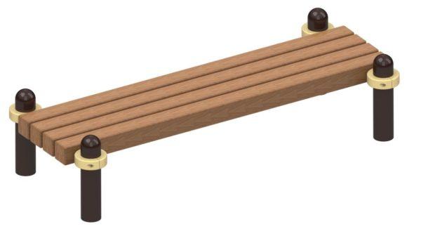 Скамья для отдыха брус Ø108 1