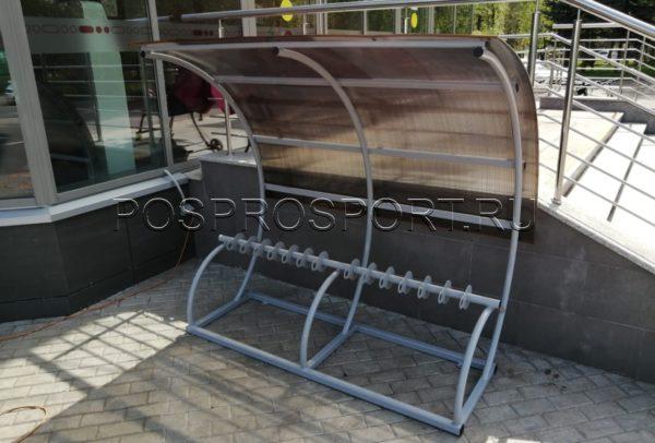 Парковка для самокатов Лотос с навесом на 14 мест 6