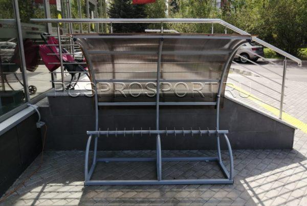 Парковка для самокатов Лотос с навесом на 14 мест 5